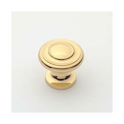 Polished Brass Traditional Knob 1""