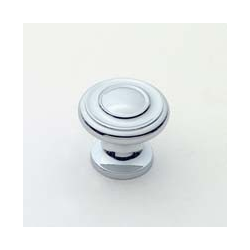 Polished Chrome Traditional Knob 1""