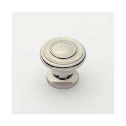 Polished Nickel Traditional Knob 1""