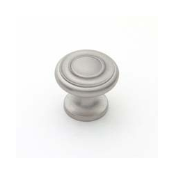 Satin Nickel Traditional Knob 1""