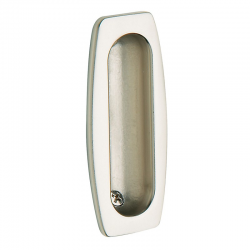 Flush Pull in Satin Nickel