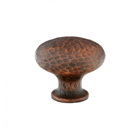 Large Hammered Round Knob in Oil Rubbed Bronze 263-39
