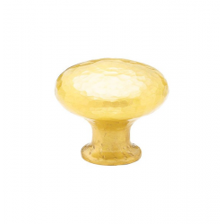 Large Round Hammered Knob in Satin Brass 263-38