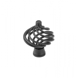 Round Birdcage Knob in Black