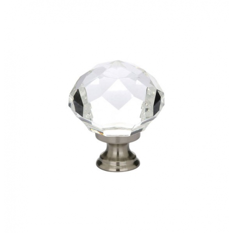 "1.25"" Diamond Knob with Satin Nickel"