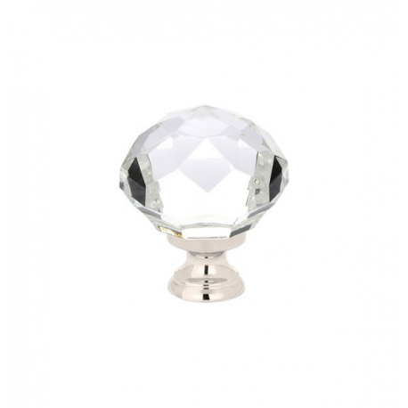 "1.25"" Diamond Knob with Polished Nickel"