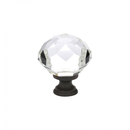 "1.25"" Diamond Knob with Oil Rubbed Bronze"