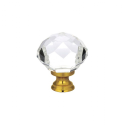 "1.25"" Diamond Knob with Antique Brass"