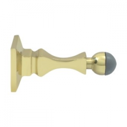 Decorative Baseboard Door Bumper in Polished Brass 200-50