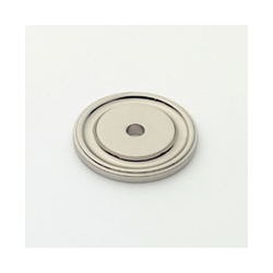 Polished Nickel Round Back Plate