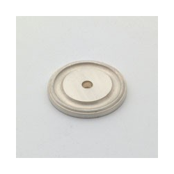Satin Silver Round Back Plate