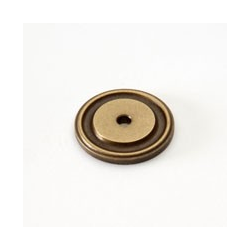 Weathered Brass Round Back Plate