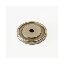 Weathered Nickel Round Back Plate
