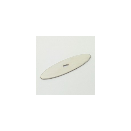 Polished Nickel Oval Back Plate