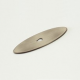 Weathered Antique Nickel Oval Back Plate