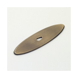 Weathered Brass Oval Back Plate