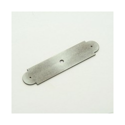Weathered Antique Nickel Arch Back Plate