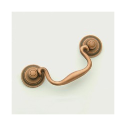 Weathered Copper Classic Bail Pull 3.5""