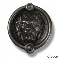 Lion's Head Door Knocker in Oil Rubbed Bronze