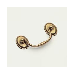 Polished Antique Oval Bail Pull
