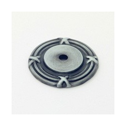 """Antique Pewter Ribbon Back Plate 1.5"""""""