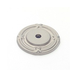 Satin Nickel Ribbon Back Plate 1.5""