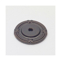 Oil-Rubbed Bronze Ribbon Back Plate 1.75""