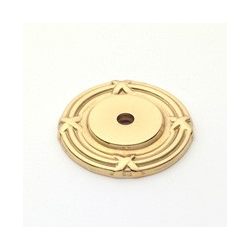 Polished Brass Ribbon Back Plate 1.75""