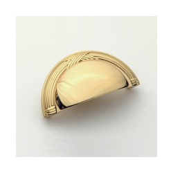 Polished Brass Ribbon Cup Pull