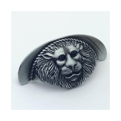 Antique Pewter Lion Cup Pull