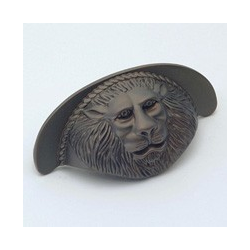 Oil-Rubbed Bronze Lion Cup Pull