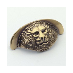 Polished Antique Lion Cup Pull