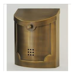 Wall Mounted Mailbox - Satin Brass