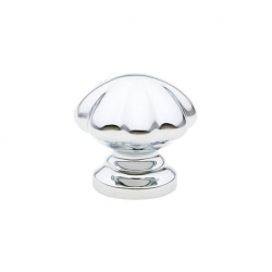 Polished Chrome Melon Knob 1.25""