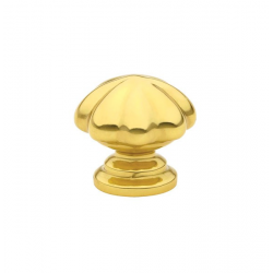 Polished Brass Melon Knob 1.25""