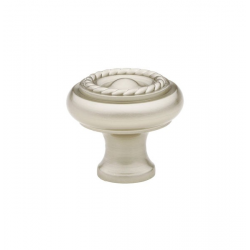 Satin Nickel Roped Knob 1""