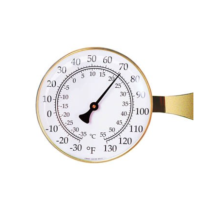 Large Outdoor Thermometer in Brass