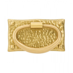 Satin Brass Oval Pull