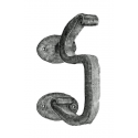 Forged Iron Door Knocker - S Curl