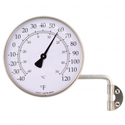Outdoor Thermometer in Stainless Steel