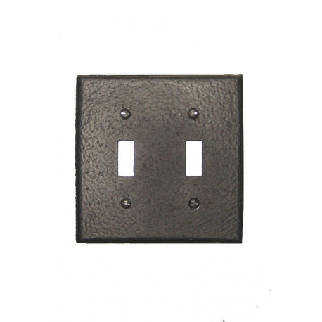 Forged  Iron Switch Plate - Double