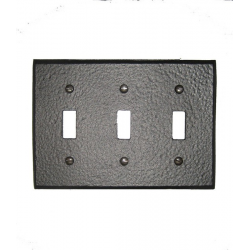 Forged Iron Switchplate - Triple