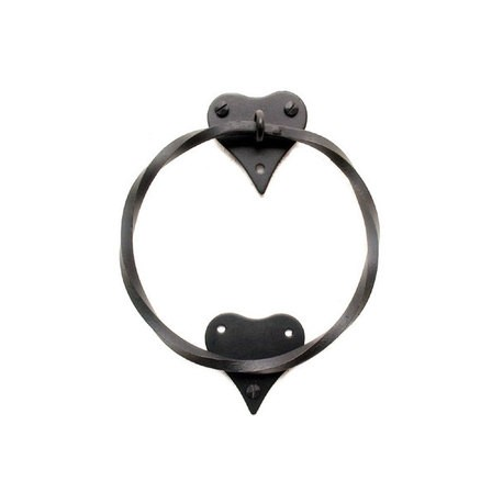 Iron Towel Ring - Heart Design