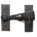 "Bar Latch w/ Black Knob - 2"" Flush"