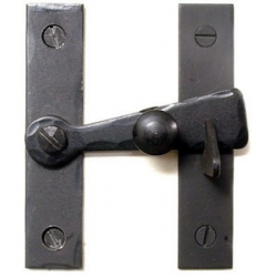 "Bar Latch with Black Knob 3"" Flush"