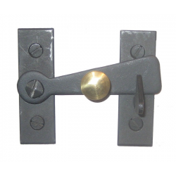 Bar Latch w/ Brass Knob 2""
