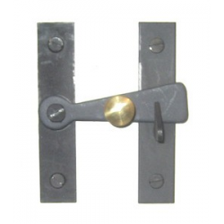 Bar Latch w/ Brass Knob 3""