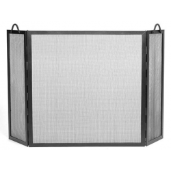 Tri-fold Fireplace Screen -Rope Detail