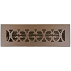 "Bronze Scroll Floor Vent 2 1/4""X10"