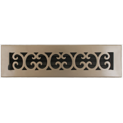 "Bronze Scroll 2 1/4""X12 Floor Vent"